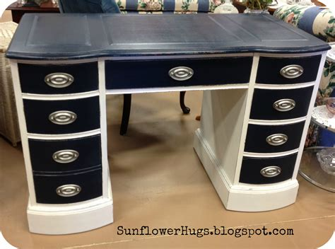 How To Paint A Desk White by Sunflowerhugs Nautical Desk Waxing Tip