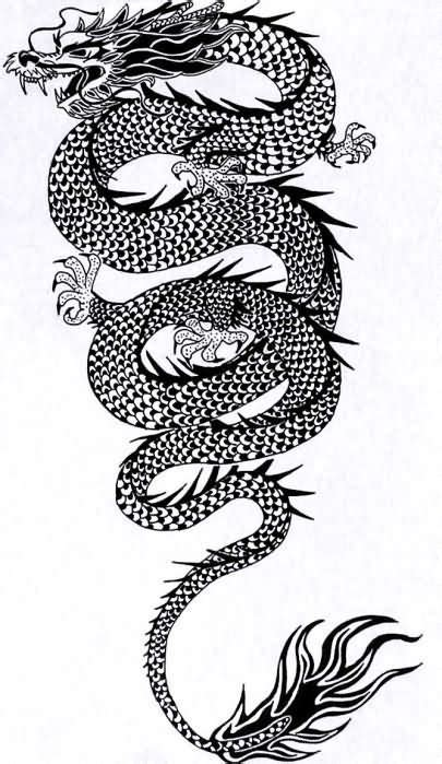 eastern dragon tattoo designs