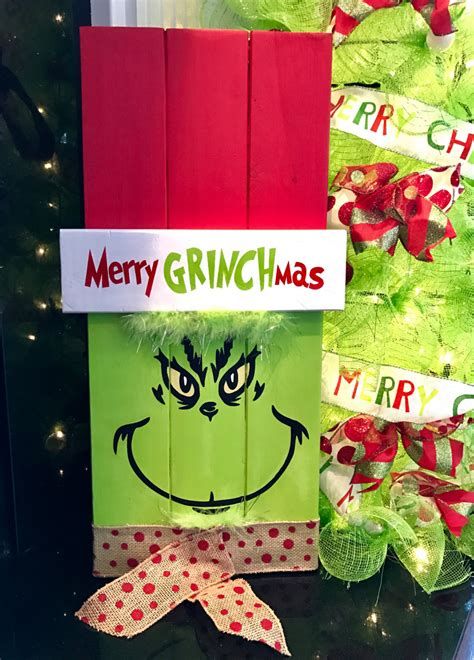 grinch up decoration grinch sign grinch decoration sign