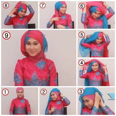tutorial hijab untuk kebaya 122 best hijab tutorial images on pinterest hijab styles