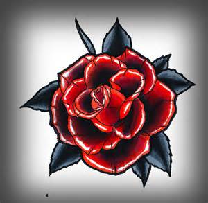 black and red rose drawing bouquet idea