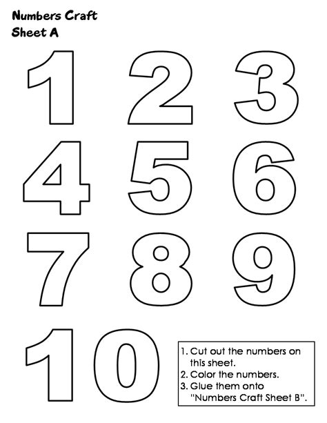 printable pictures of numbers 1 10 free tracing numbers 1 10 coloring pages