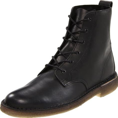 clarks clarks mens desert mali boot in black for