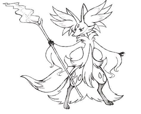 pokemon delphox coloring page project fakemon mega delphox pok 233 mon amino
