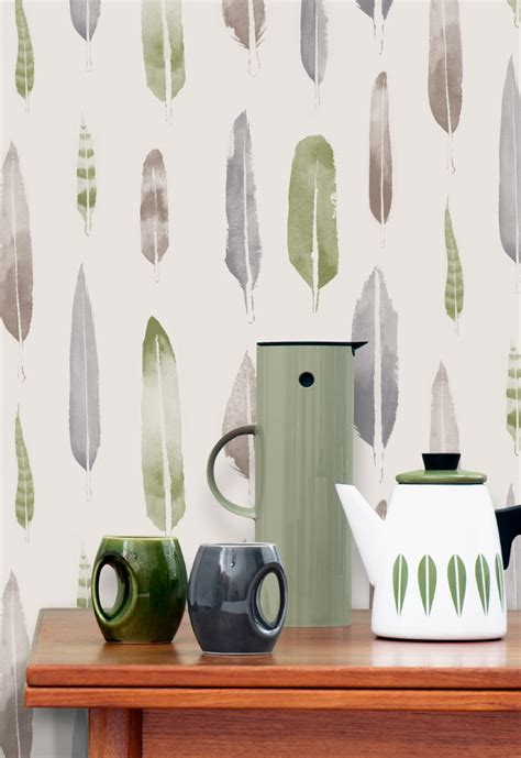 feathers wallpaper by mini moderns matt sewell 183 happy