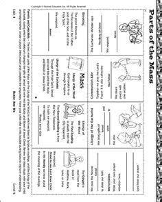 Parts of Catholic Mass Worksheet | sunday school