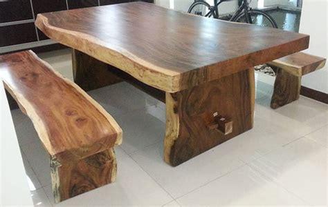Meja Makan Kayu Jati Utuh meja bangku antik trembesi suar kayu kering untuh asli kota jepara