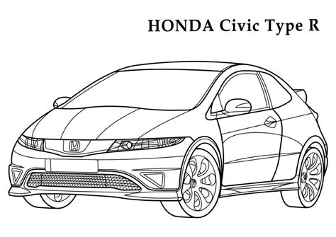coloring pages honda cars honda coloring pages and print for free