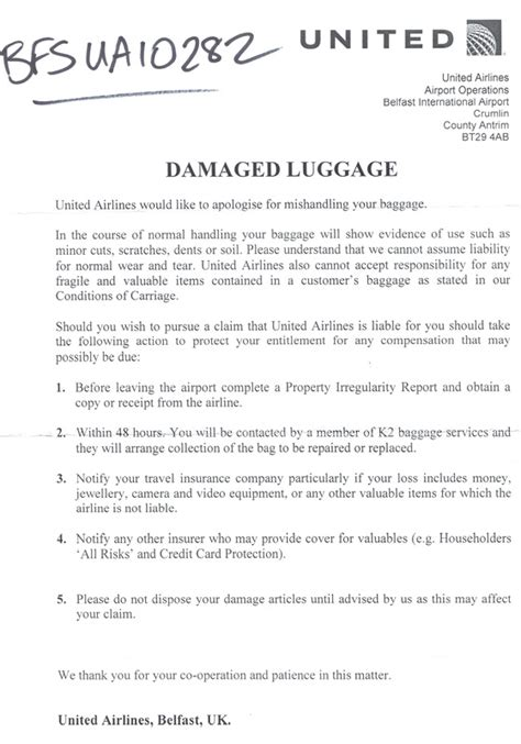 Complaint Letter Format Lost Purse Sle Complaint Letter Airline Lost Luggage