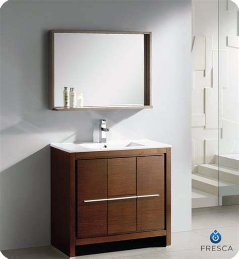 36 inch bathroom mirror fresca allier 36 inch wenge brown modern bathroom vanity