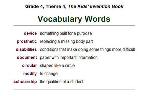 4th Grade Vocabulary Worksheets by Free Worksheets Abitlikethis