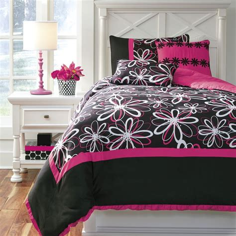 Pink And Black Bedding For Adults for that or this set is and
