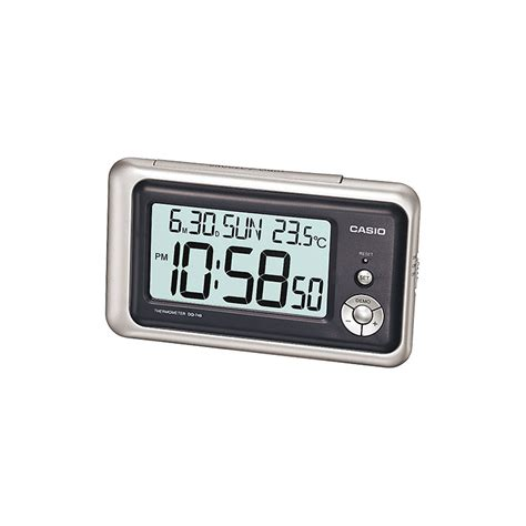 Small Digital Desk Clock by Casio Dq 748 8df Digital Table Clock Black Silver