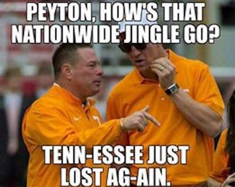 Funny College Football Memes - the tennessee memes are hilarious after the 41 0 loss to