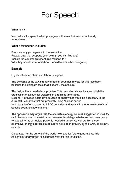 student congress resolution template sle debate speech draft websitereports196 web fc2