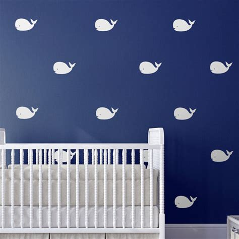 Whale Nursery Decor by Whale Nursery Wall Decals Nursery Decor Nautical