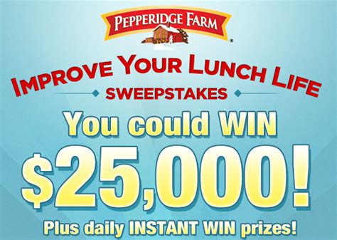 Free Online Instant Win Sweepstakes - pepperidge farm instant win game sweeps 5 000 win 35