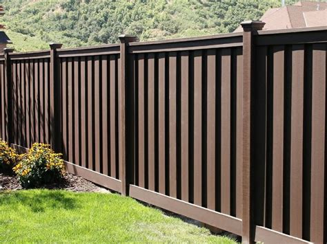 backyard fence paint colors beautiful dark brown fence with flat caps for a yard or