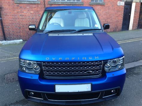 matte blue range rover range rover vogue vinyl wrapped matte metallic blue by