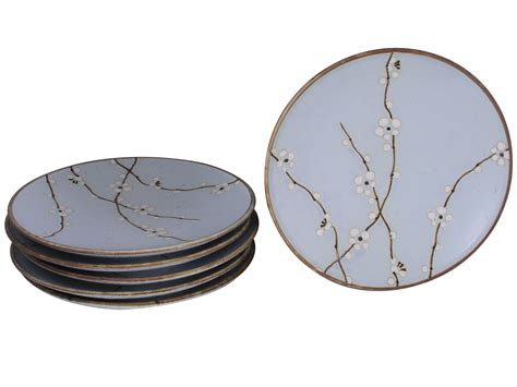 Blossom Free Plate 8 7 8 inch japanese cherry blossom plates set of six