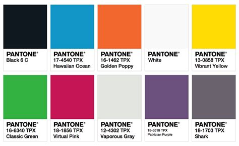 pantone color palette pantone colors fashion trendsetter