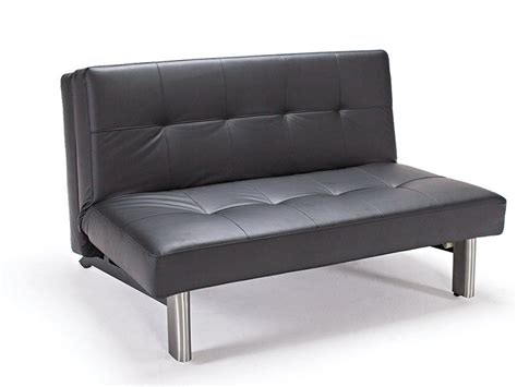 tufted sleek contemporary black leather sofa bed anchorage
