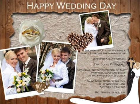 wedding collage template wedding invitation card add on templates free