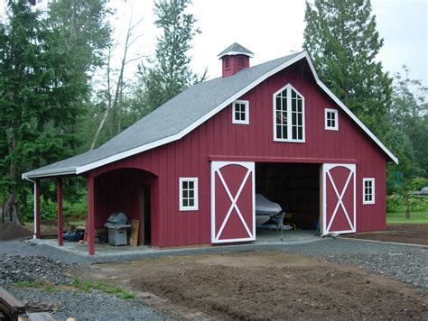 gambrel pole barn interior of a gambrel pole barn as a home ideas