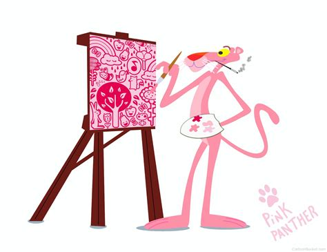 painting pink panther pink panther pictures images