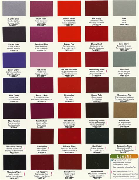 auto paint color chart ideas what colors to paint inside your house car colors paint 2017