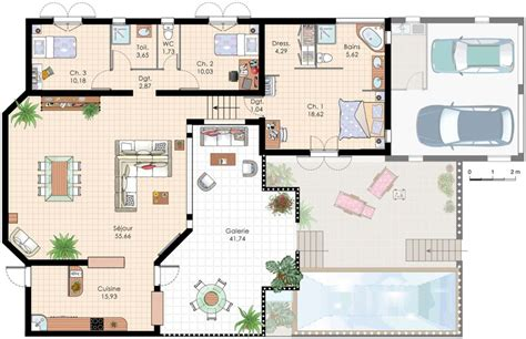 villa plans plan de villa recherche google plan de maison