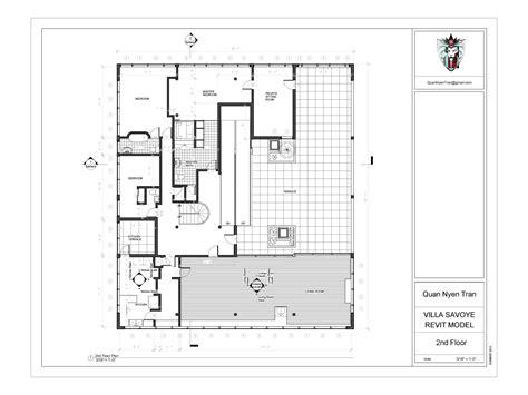 villa savoye floor plan dwg villa savoye revit model quan nyen tran archinect