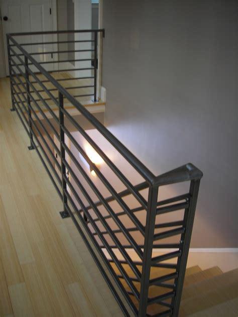 horizontal metal railing interior railings amaral industries inc