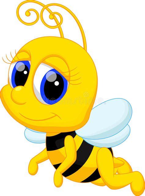 cute bee cartoon stock illustration illustration