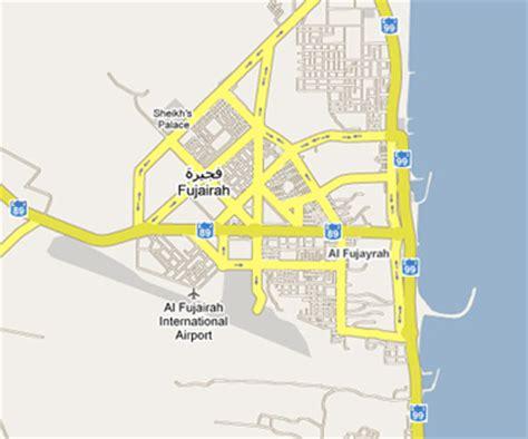 resort fujairah map map of fujairah picture image by tag