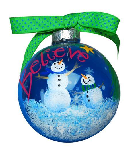 believe snowman christmas ornament favecrafts com