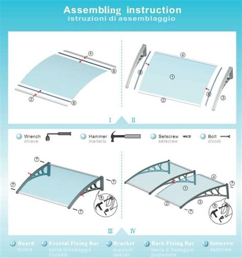 how to install an awning ds1001000 100x1000cm easy to install polycarbonate door
