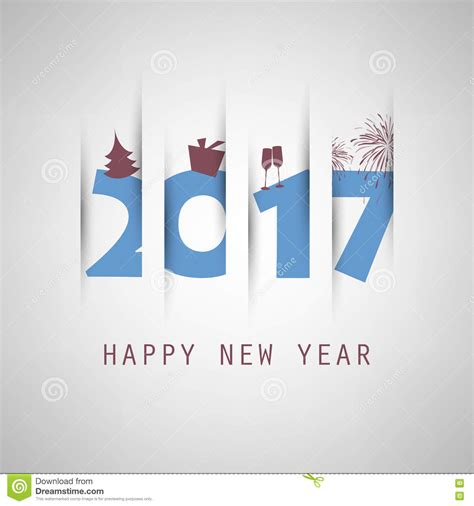 creative new year greeting cards best wishes simple blue new year card cover or