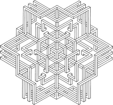 gallery of geometric pattern coloring pages for adults