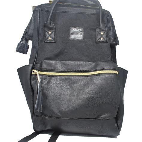 Tas Ransel Anello By Brandystore anello tas ransel kulit canvas size s black