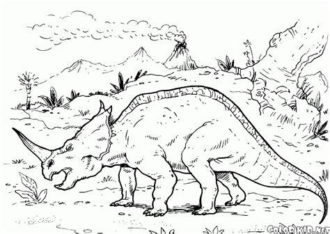 ぬりえ 恐竜狩り