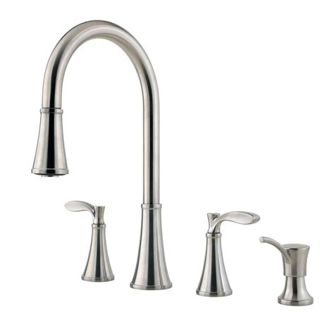 two handle kitchen faucet with sprayer pfister petaluma 2 handle pull down sprayer kitchen faucet
