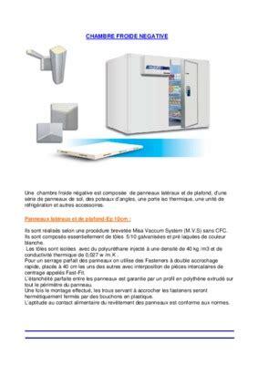 chambre froide bof d馭inition plan chambre froide misa pdf notice manuel d utilisation