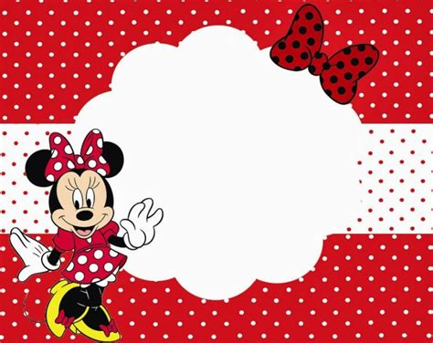 Minnie Mouse Template Invitation by Minnie Mouse Free Printable Invitation Templates