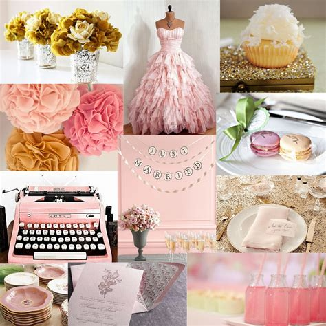 pink gold wedding d events inspiration board 20 pink and gold goodness