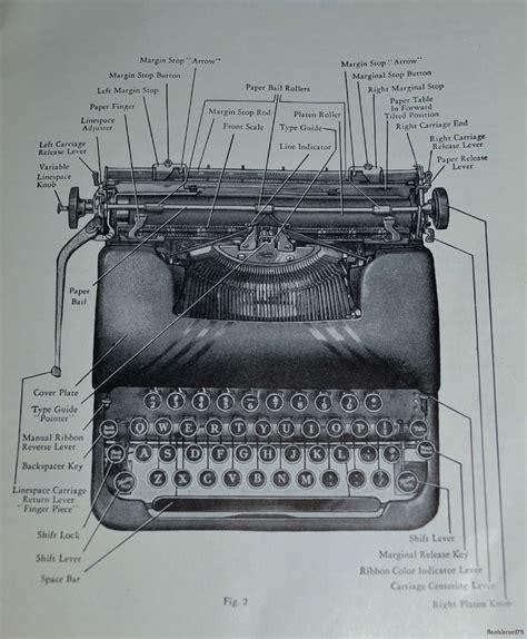 typewriter parts diagram smith corona sterling parts diagram deco