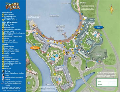 Disney Boardwalk Map S Resort Wdwinfo Com