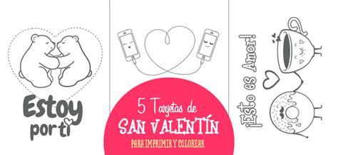 imagenes en ingles para san valentin 5 tarjetas de san valent 237 n para imprimir y colorear