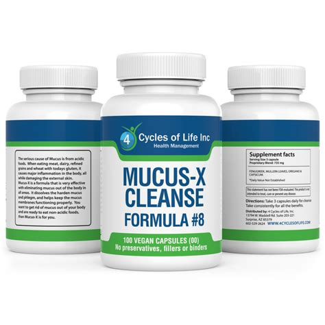 Dairy Detox Mucus by Mucus X Cleanse Restoration Formula 8 4 Cycles Of