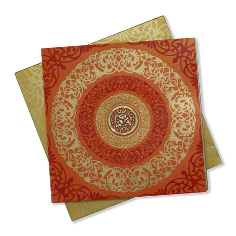 wedding card hindu hindu wedding card in orange with floral design ganesha